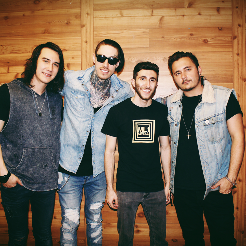 Joseph Karre with Trace Cyrus and Mason Musso of Metro Station